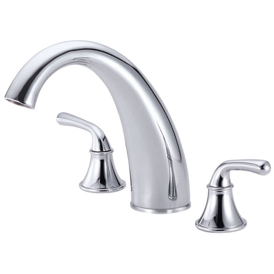 Danze Bannockburn Chrome Hi Arch Spout Widespread Roman Tub Filler Faucet INCLUDES Rough-in Valve