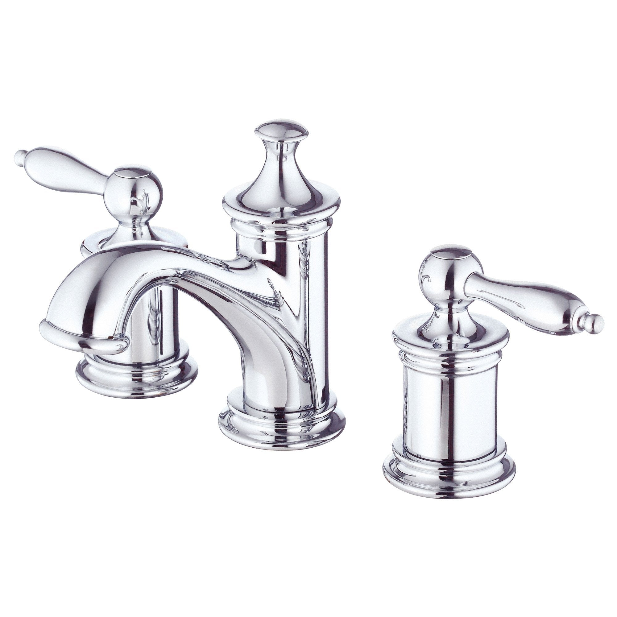 Danze Prince Chrome Widespread Bathroom Sink Faucet with Touch Down Drain