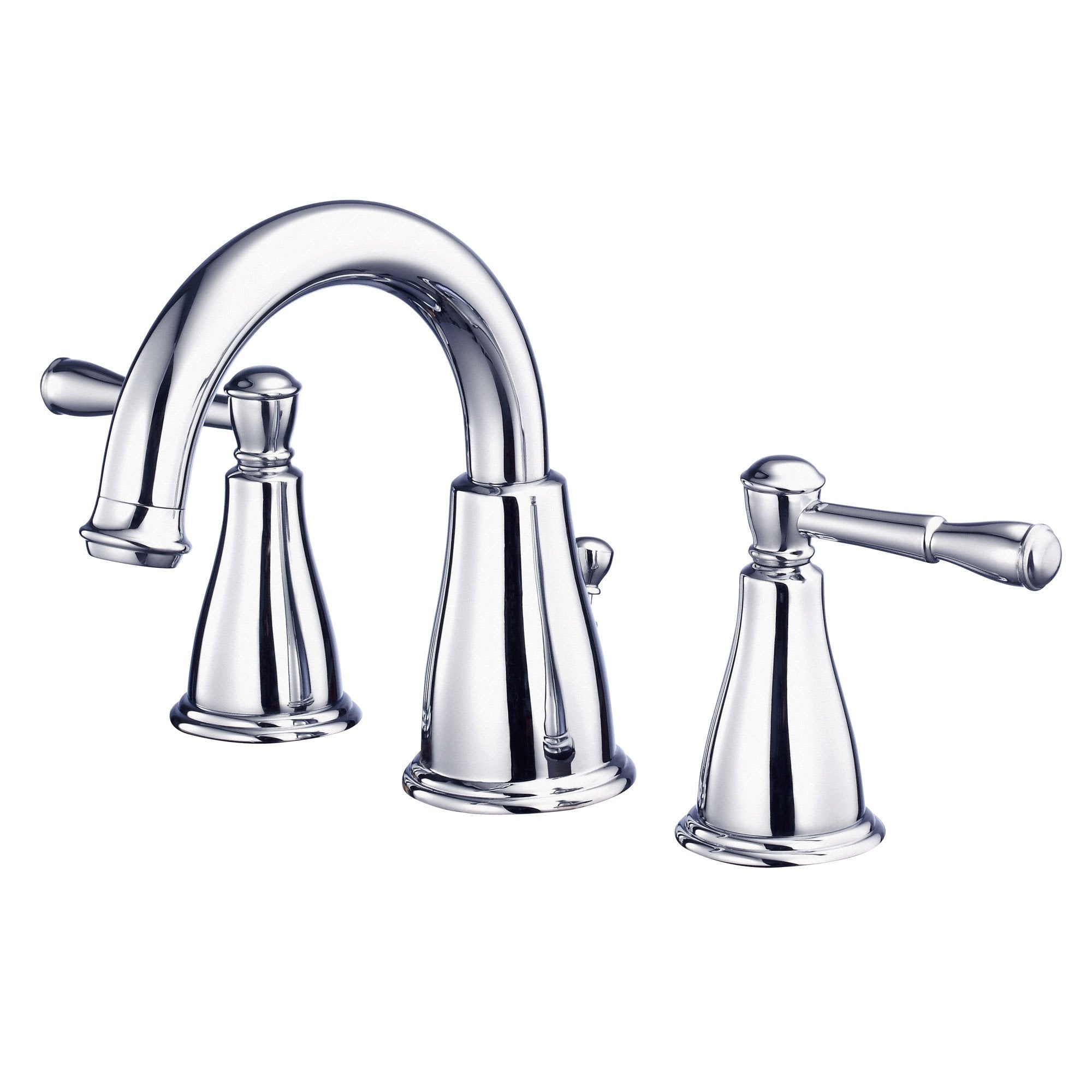 Danze Eastham Chrome Scroll Lever Widespread Bathroom Sink Faucet