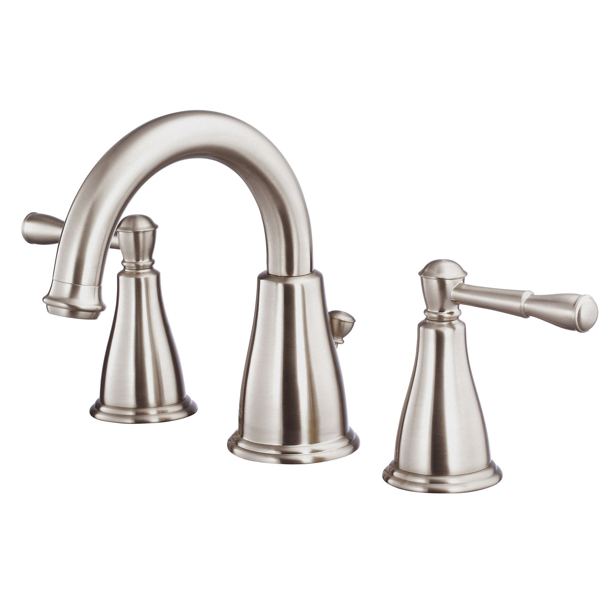 Danze Eastham Brushed Nickel Scroll Lever Widespread Bathroom Sink Faucet