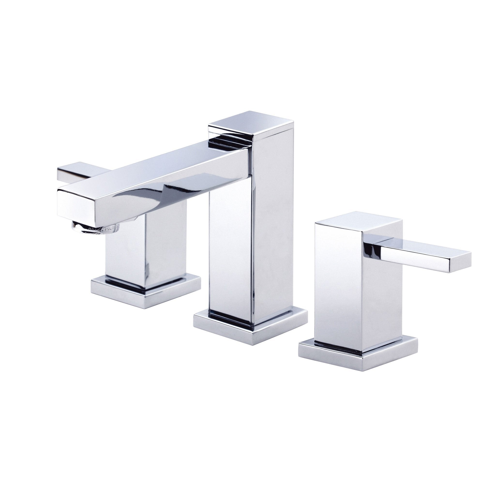 Danze Reef Chrome Modern Square 2 Handle Widespread Bathroom Sink Faucet