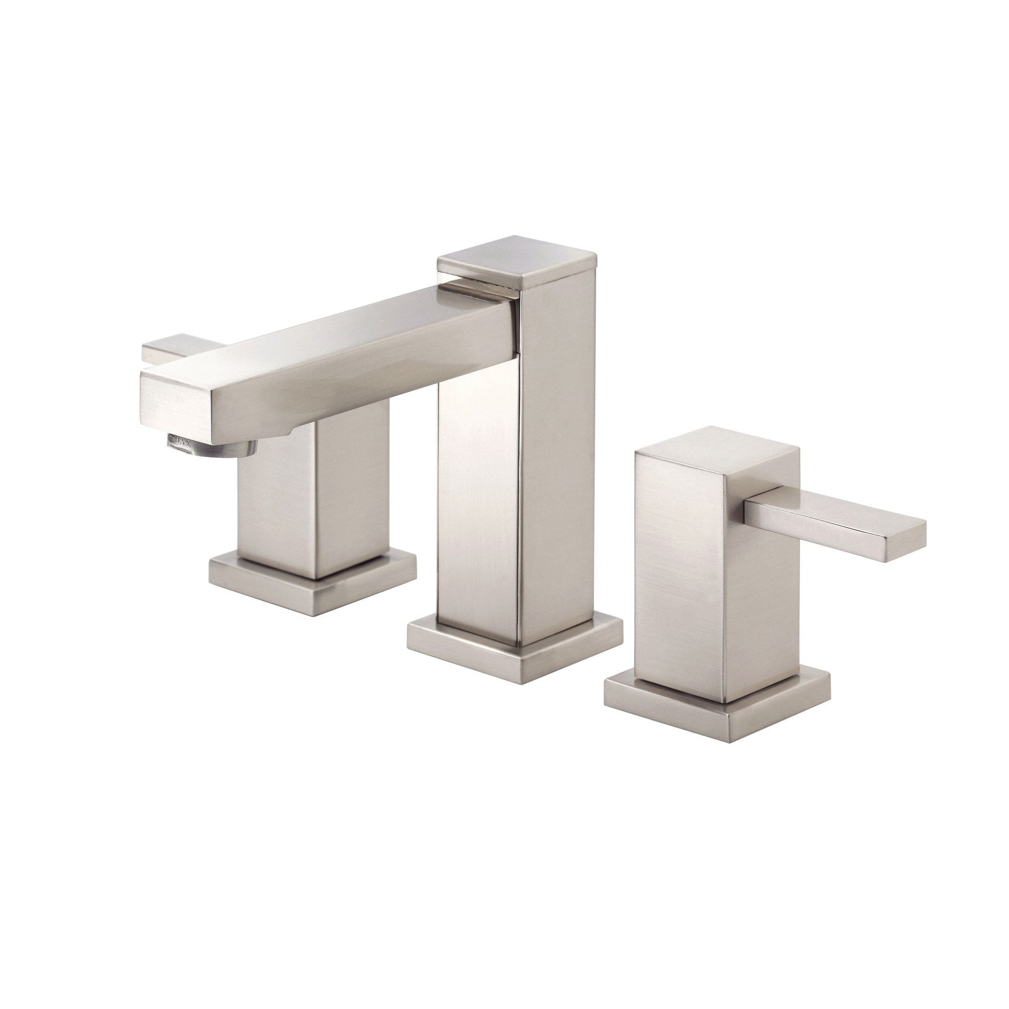 Danze Reef Brushed Nickel Modern Square 2 Handle Widespread