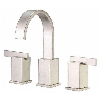 Danze Sirius Brushed Nickel Modern Gooseneck Spout Widespread Bathroom Faucet