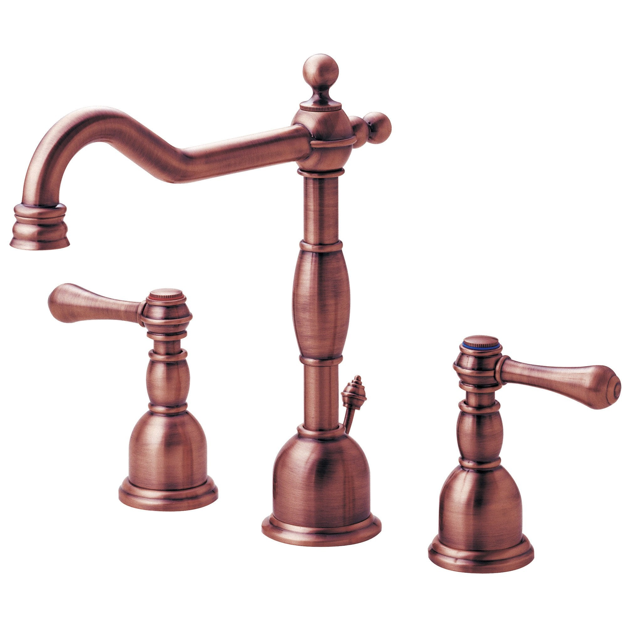 Danze Opulence Antique Copper Traditional Widespread Bathroom Sink Faucet