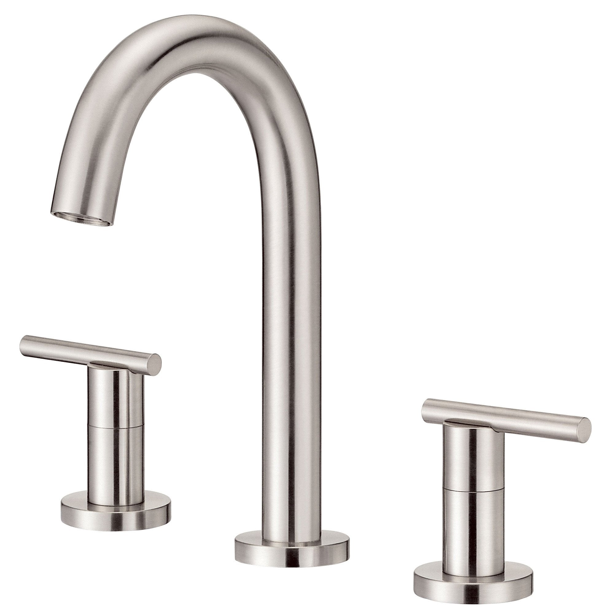 Danze Parma Brushed Nickel Cylindrical Trimline Slim Widespread Bathroom Faucet
