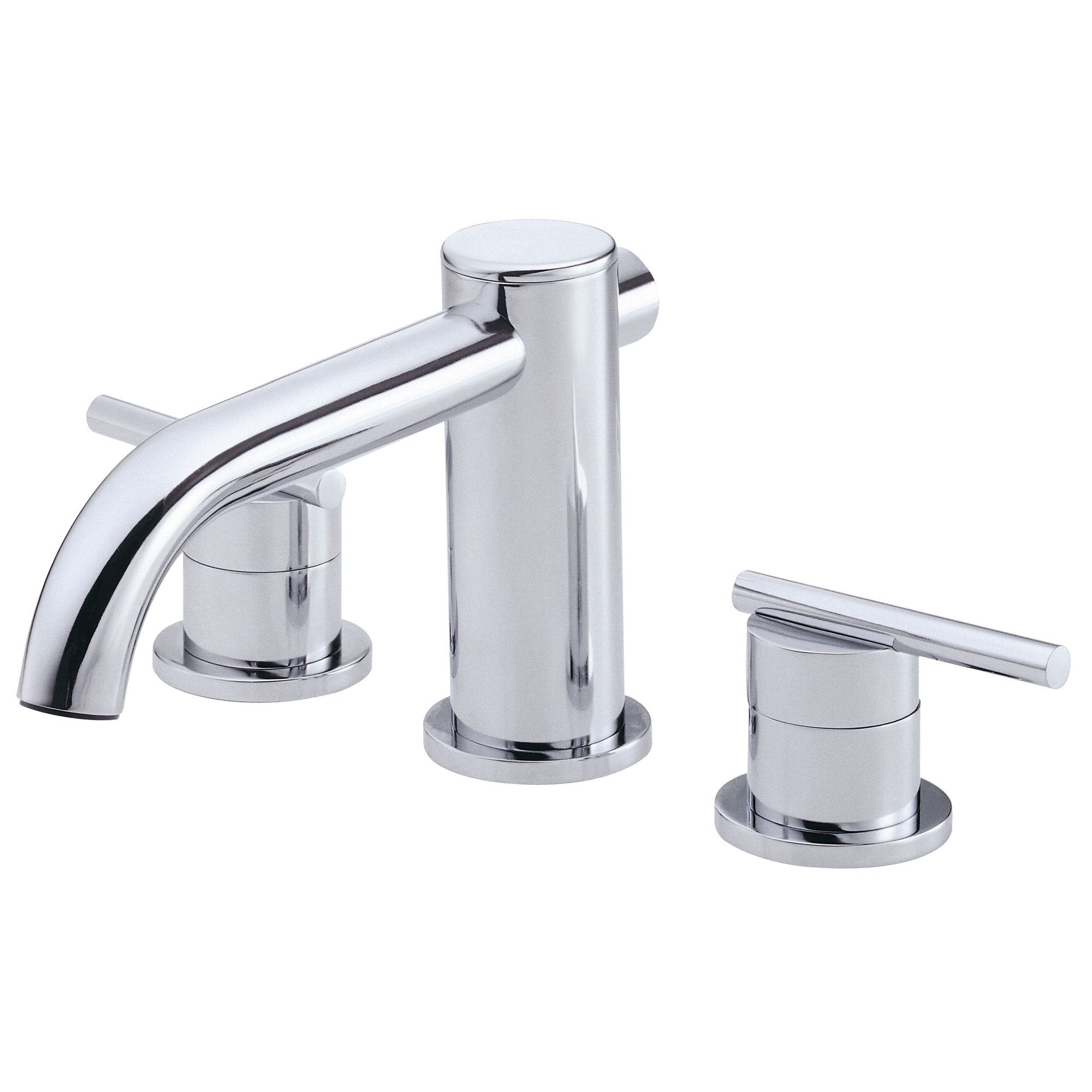Danze Parma Chrome Cylindrical Widespread Roman Tub Filler Faucet ...