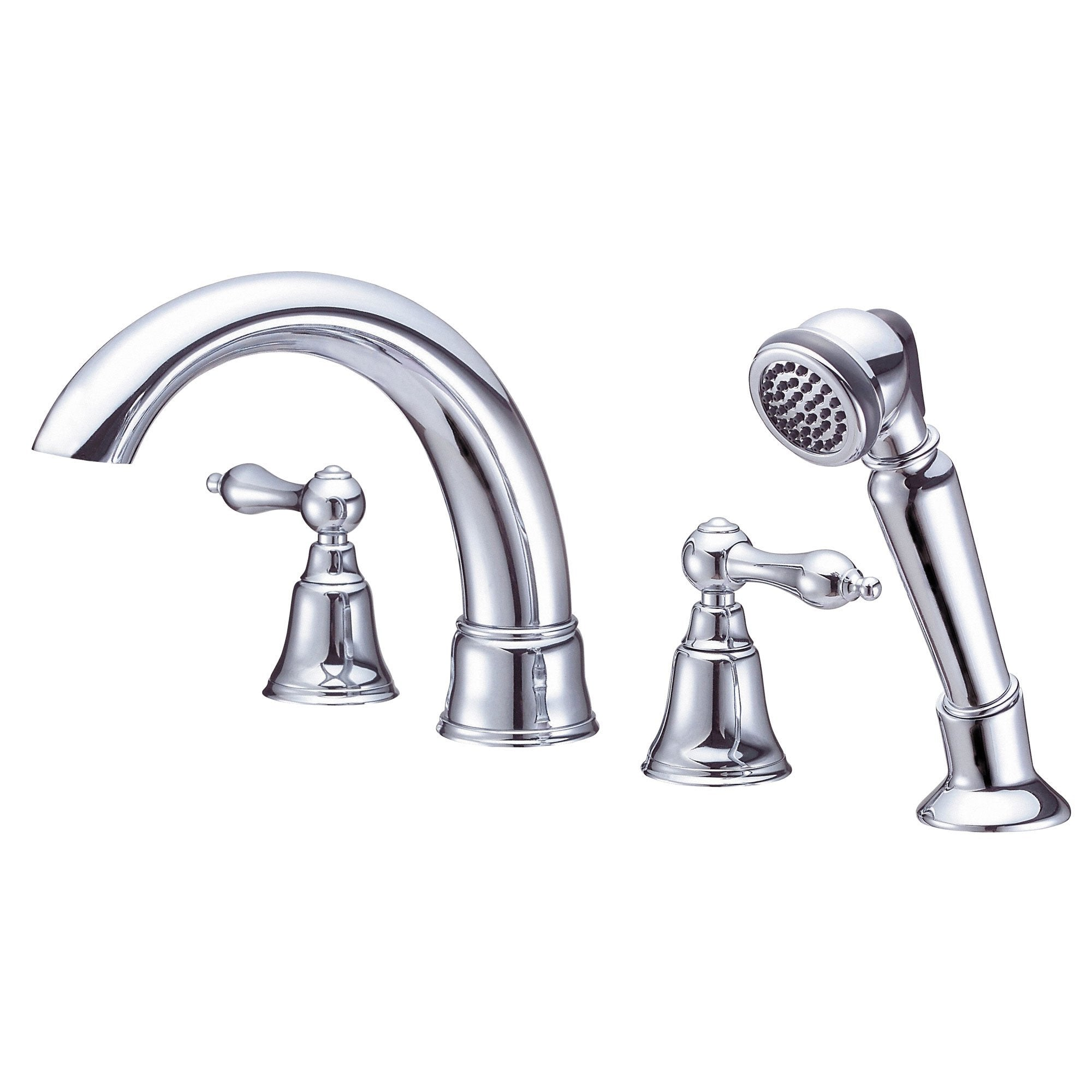 Danze Fairmont Chrome Widespread Roman Tub Filler Faucet with Hand Shower INCLUDES Rough-in Valve