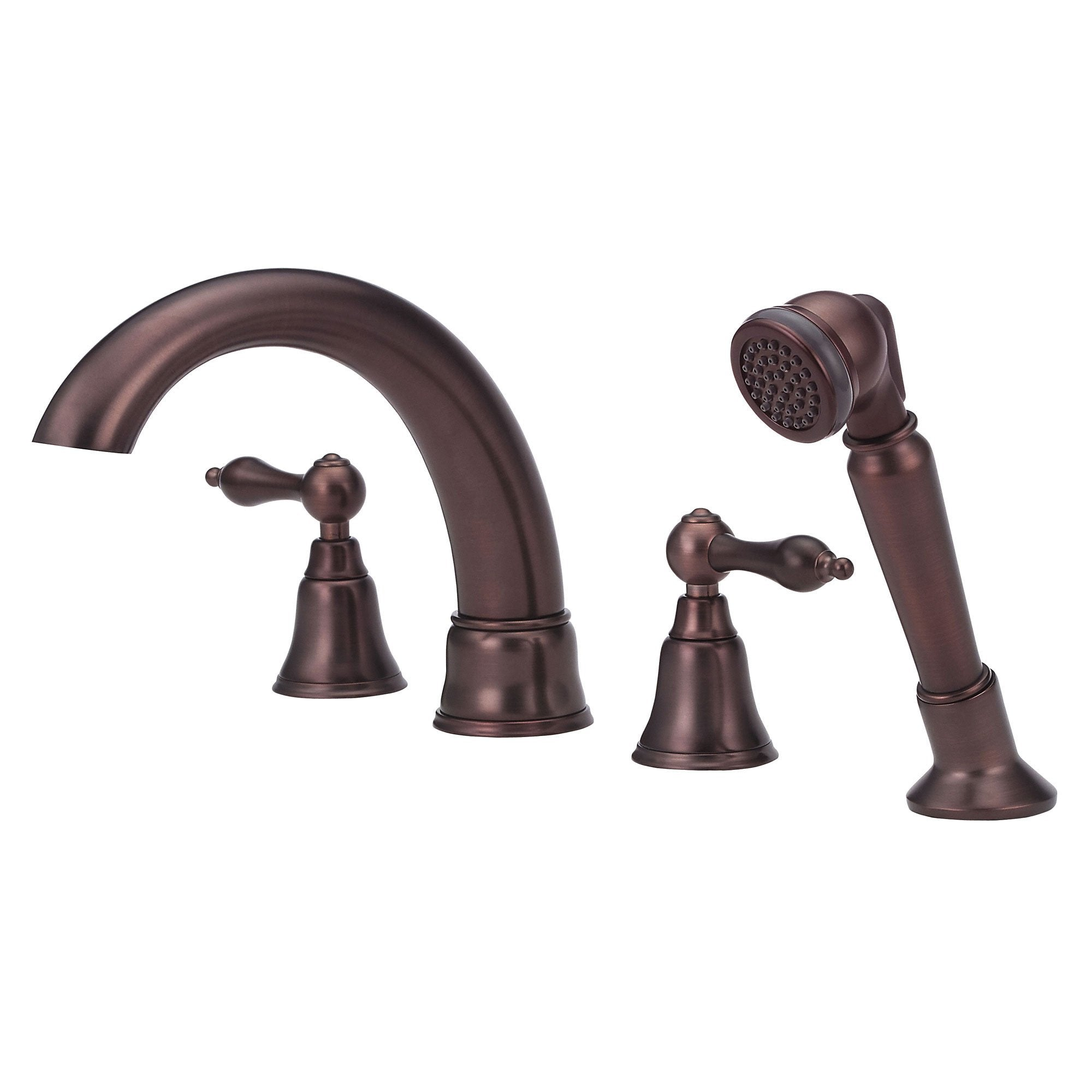 Danze Fairmont Oil Rubbed Bronze Widespread Roman Tub Filler Faucet with Sprayer INCLUDES Rough-in Valve
