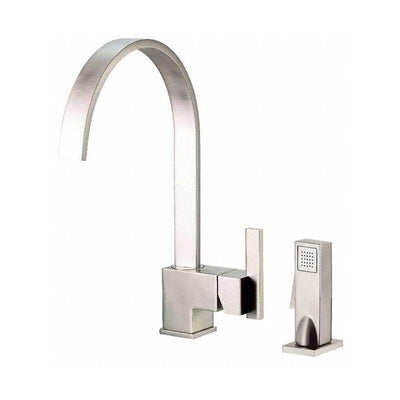 Danze Sirius Stainless Steel Single Handle Modern Hi-Arch Kitchen Faucet w Spray