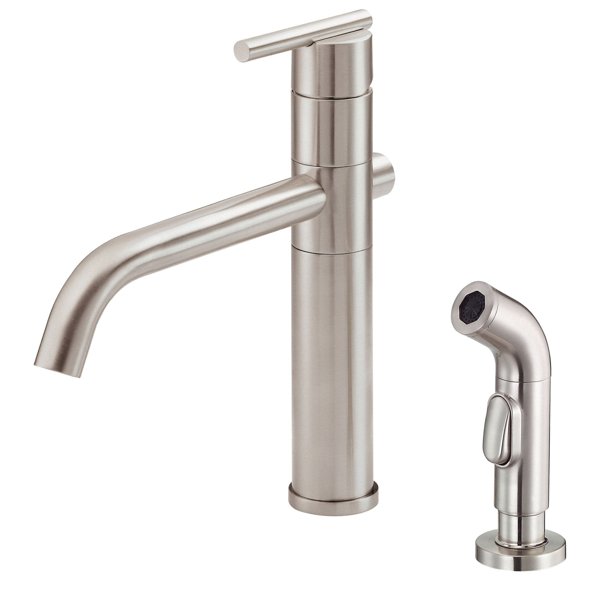Danze Parma Stainless Steel Single Handle Modern Kitchen Faucet with Sprayer