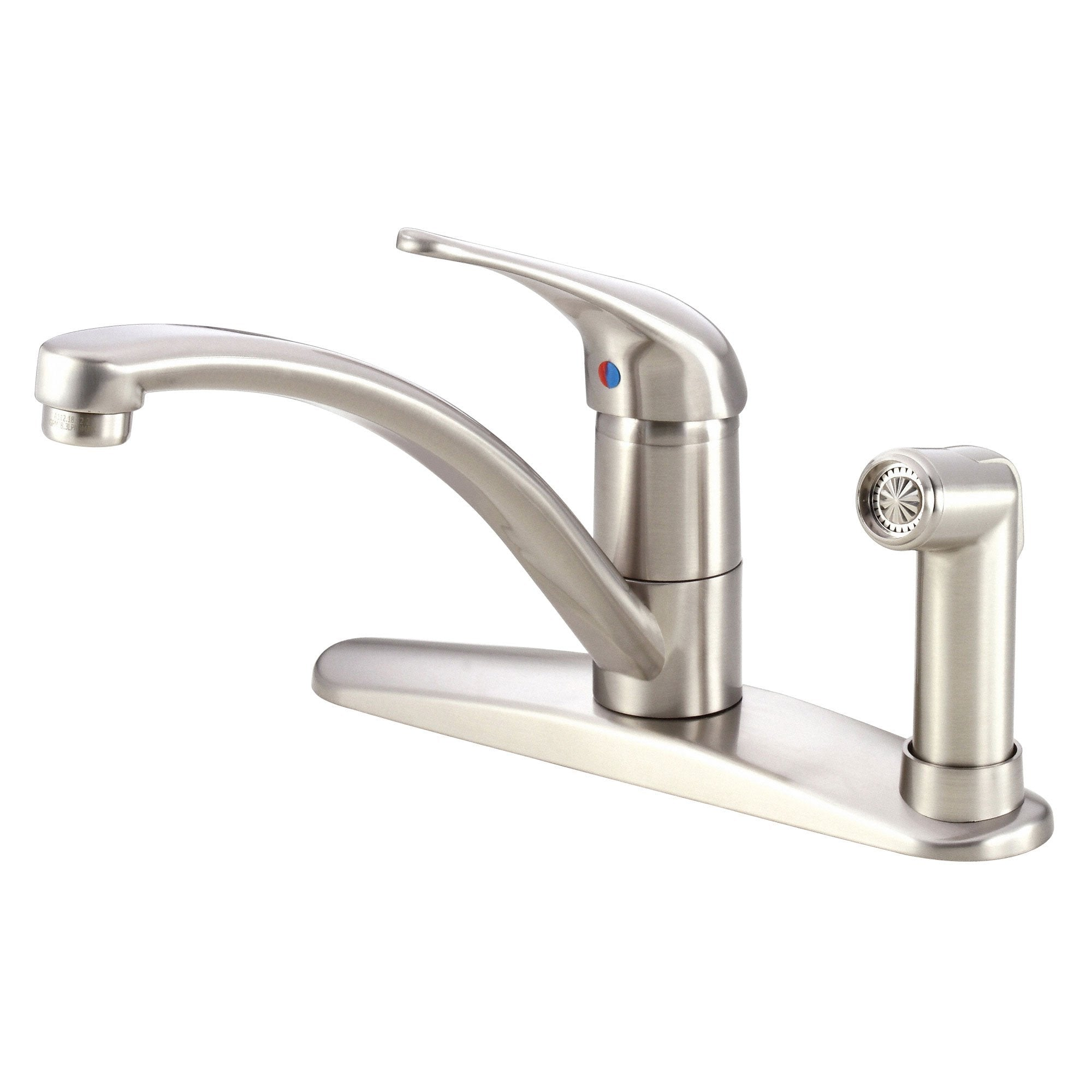 Danze Melrose Stainless Steel Basic Kitchen Faucet With Deck Plate