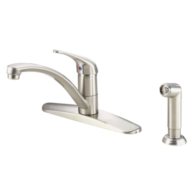 Danze Melrose Stainless Steel Basic Kitchen Faucet with Sprayer
