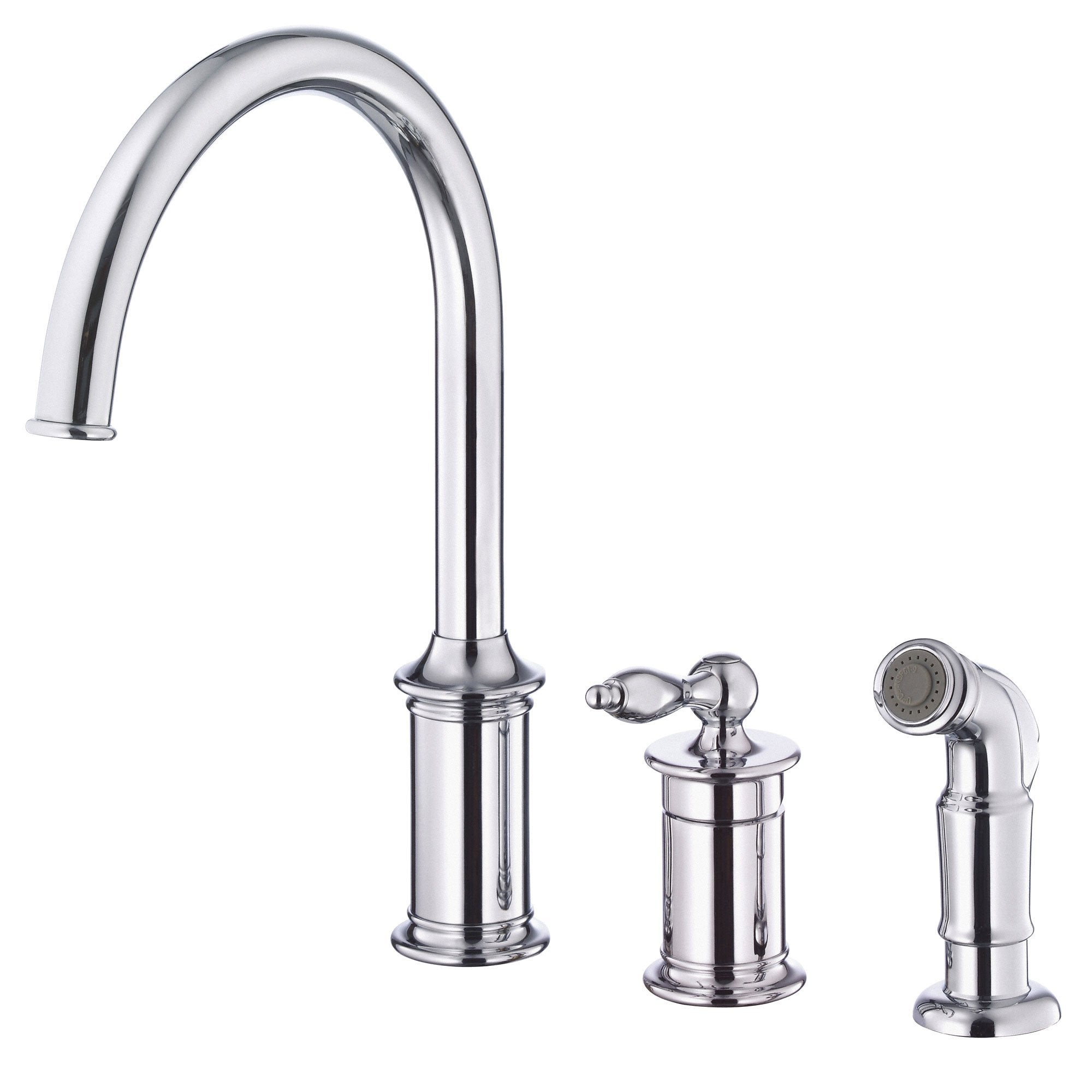 danze prince chrome single handle 3 hole widespread kitchen faucet with sprayer 3 piece kitchen faucet Danze Prince Chrome Single Handle 3 Hole Widespread Kitchen Faucet with Sprayer