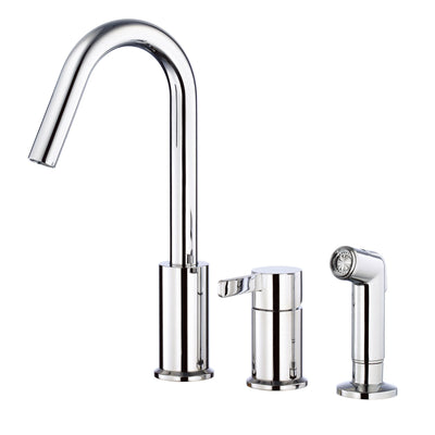 Danze Amalfi Chrome Hi-rise Spout Widespread Kitchen Faucet with Sprayer