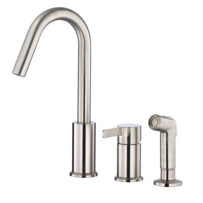 Danze Amalfi Stainless Steel Hi-rise Spout Widespread Kitchen Faucet with Spray