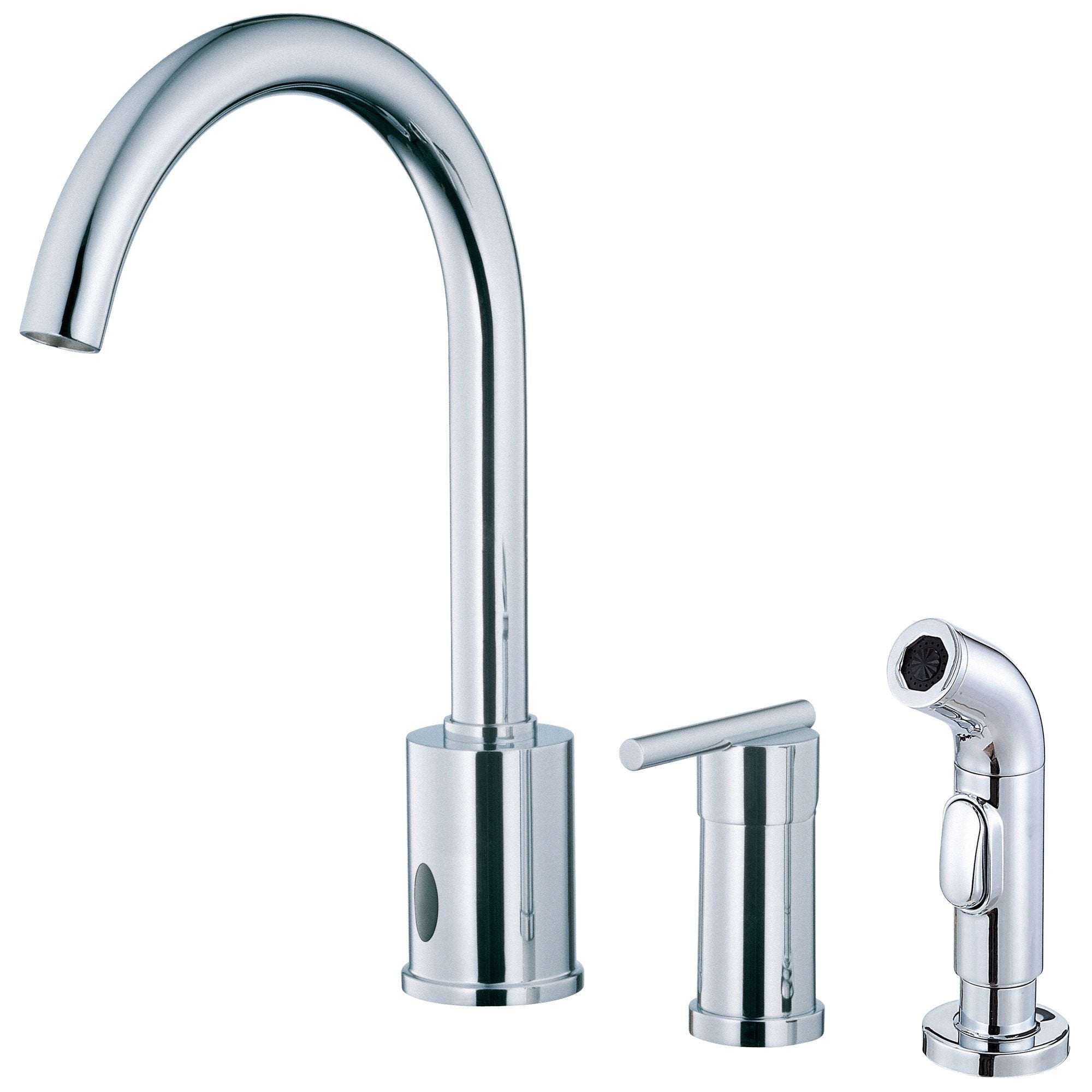 Danze Parma Chrome Electronic Eye Single Handle Kitchen Faucet with Sprayer