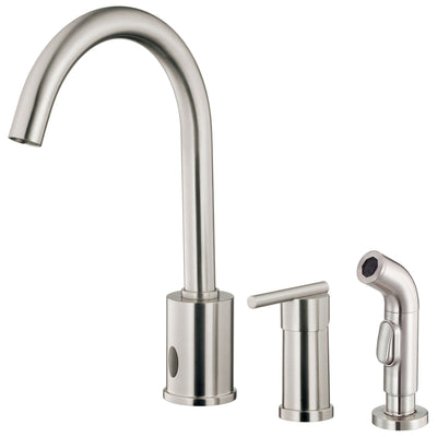 Danze Parma Stainless Steel Electronic Eye 1 Handle Kitchen Faucet with Sprayer