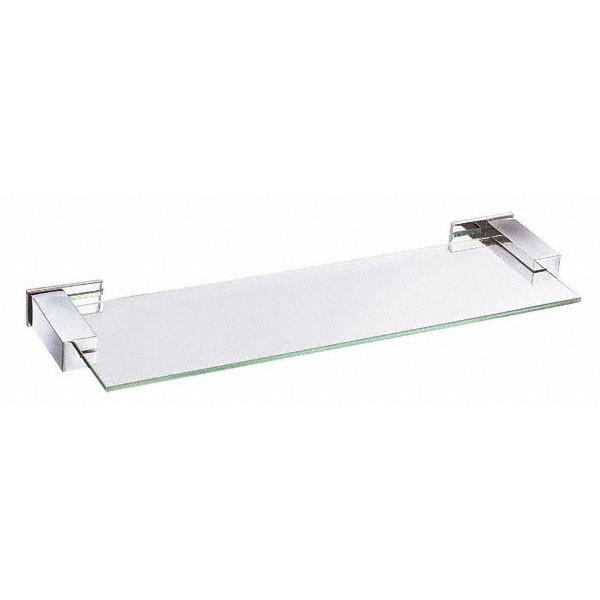 "Danze Sirius Collection Ultra Modern 18"" Chrome Tempered Glass Shelf"