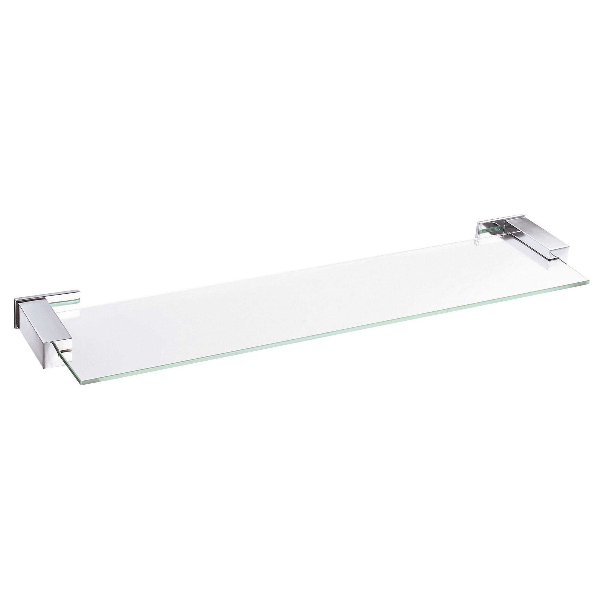 "Danze Sirius Collection Ultra Modern 24"" Chrome Tempered Glass Shelf"