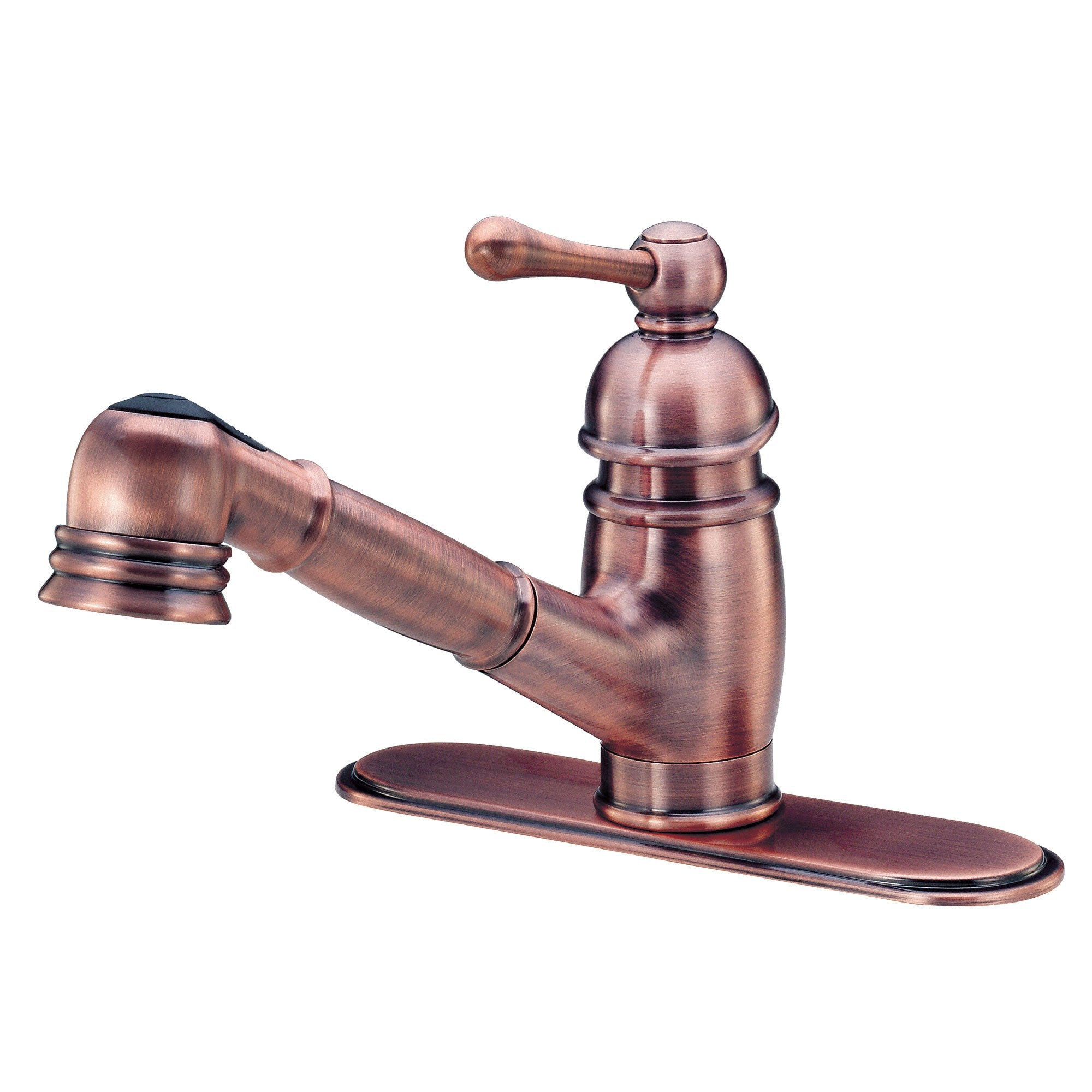 Danze Opulence Antique Copper Single Handle Pull-Out Spout Kitchen Faucet