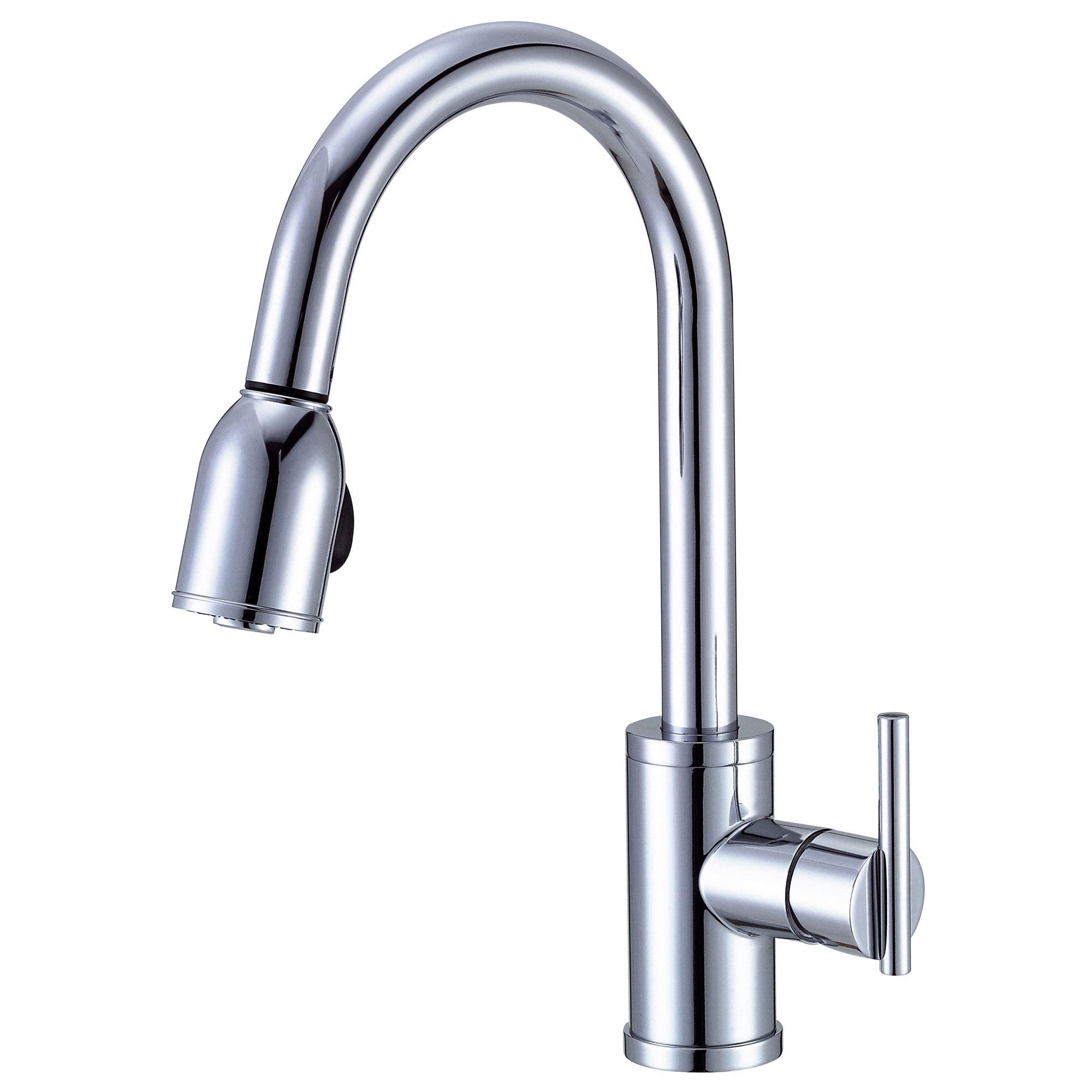 Danze Parma Chrome Modern Minimal Single Handle Pull-Down Spray Kitchen Faucet