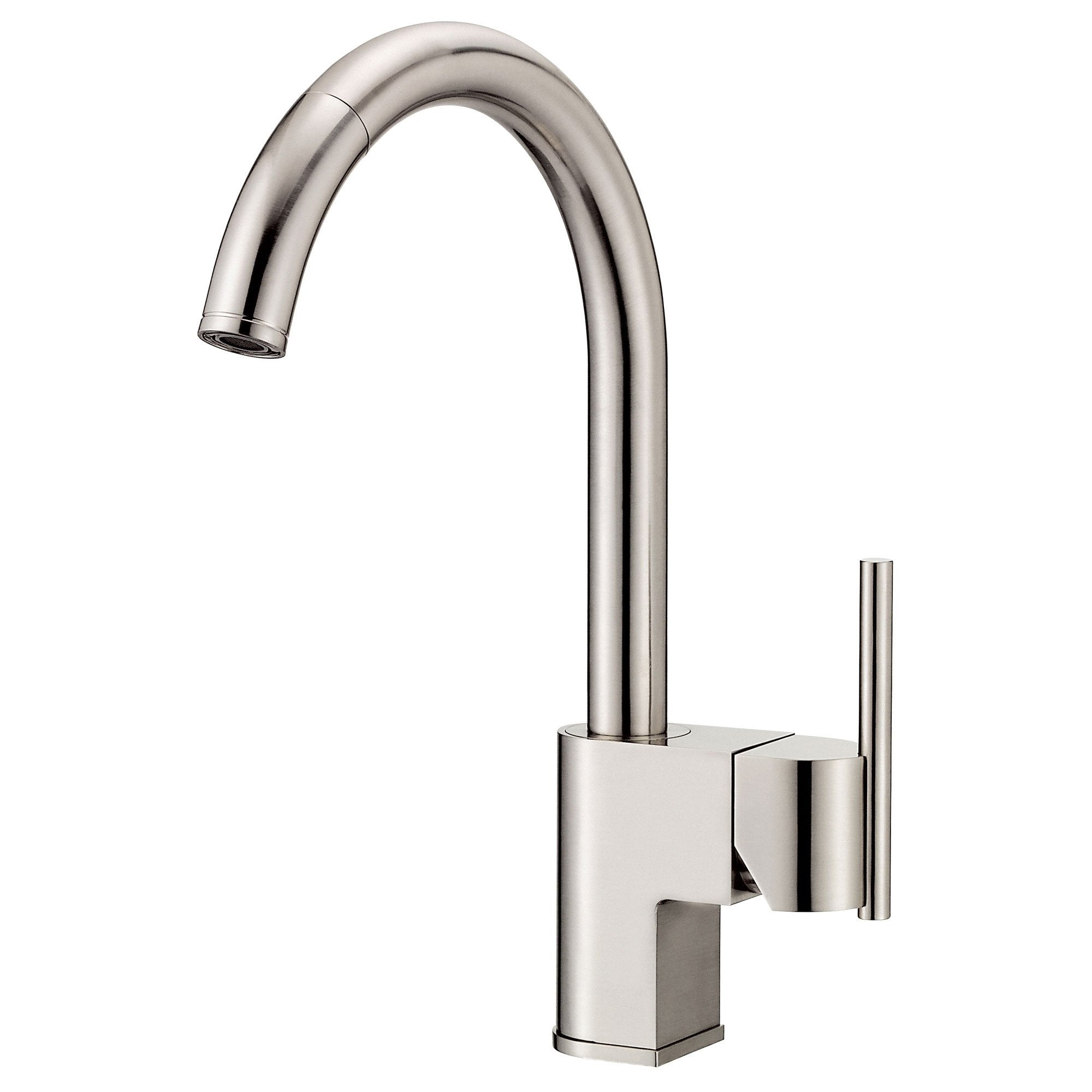 Danze Como Stainless Steel Modern Single Handle Pull-Down Spout Kitchen Faucet
