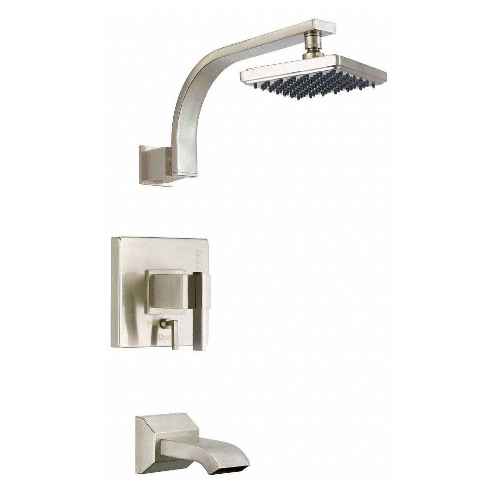 Danze Sirius Modern Brushed Nickel Single Handle Tub and Shower Combination Faucet INCLUDES Rough-in Valve