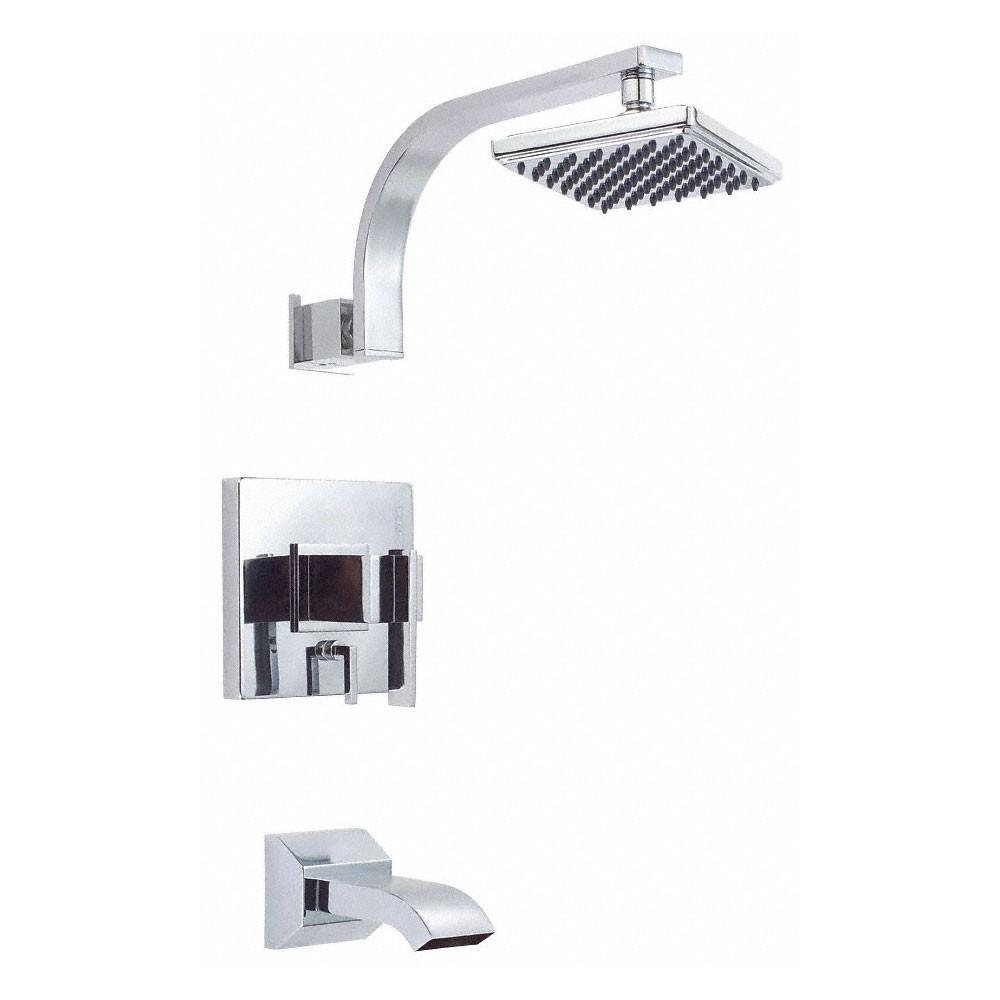 Danze Sirius Modern Chrome Single Handle Tub and Shower Combination Faucet INCLUDES Rough-in Valve