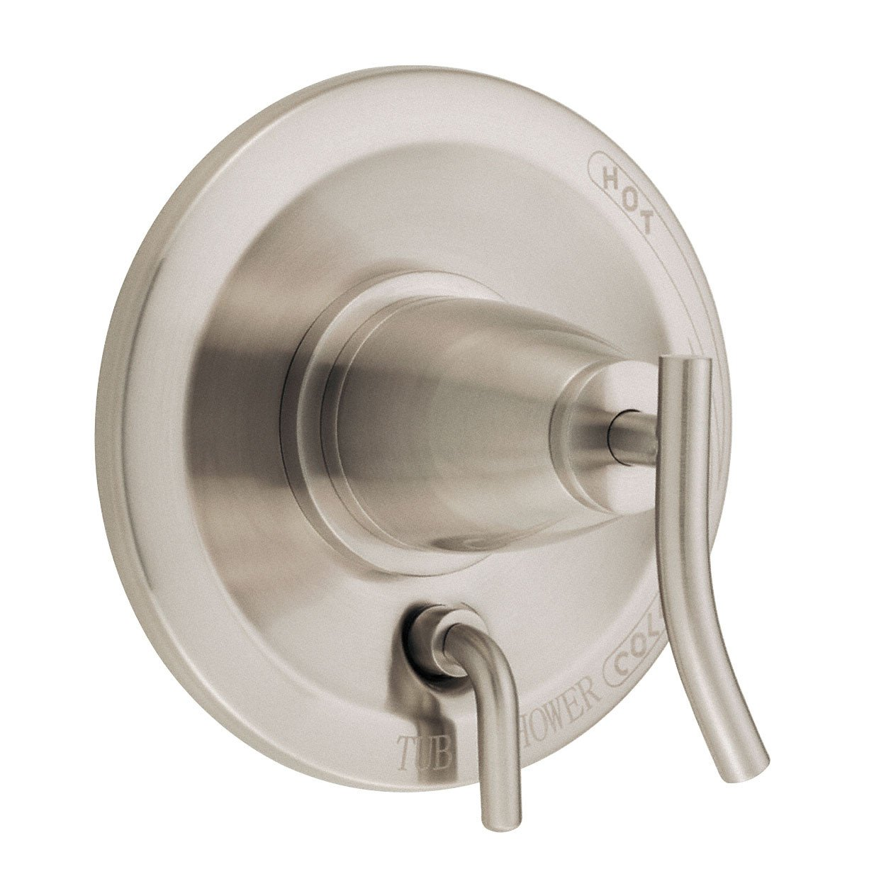 Danze Sonora Brushed Nickel Pressure Balance Shower Control with Diverter INCLUDES Rough-in Valve