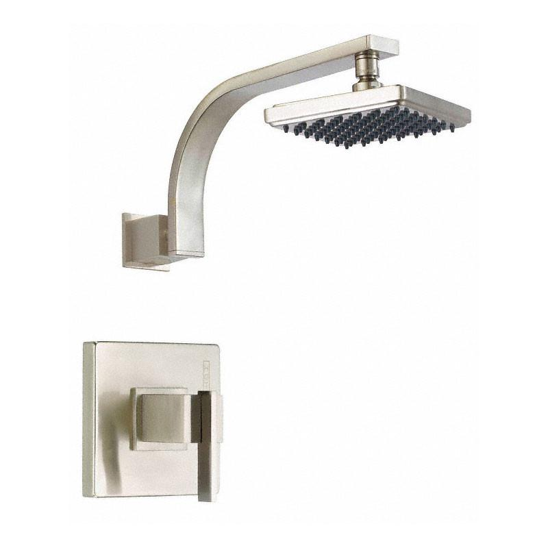 Danze Sirius Ultra Modern Square Brushed Nickel Single Handle Shower Only Faucet INCLUDES Rough-in Valve