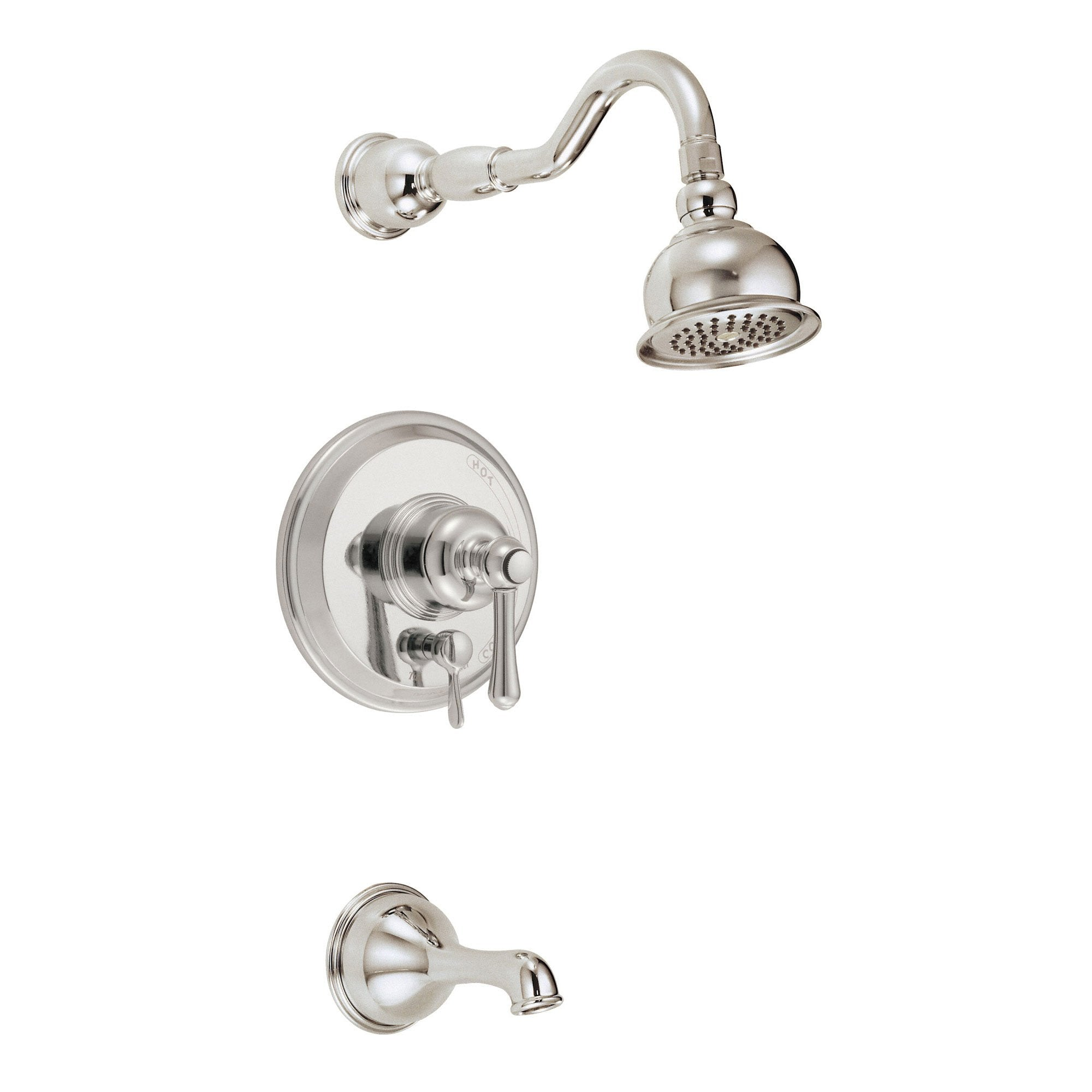 Danze Opulence Polished Nickel Single Handle Tub and Shower Combination Faucet INCLUDES Rough-in Valve