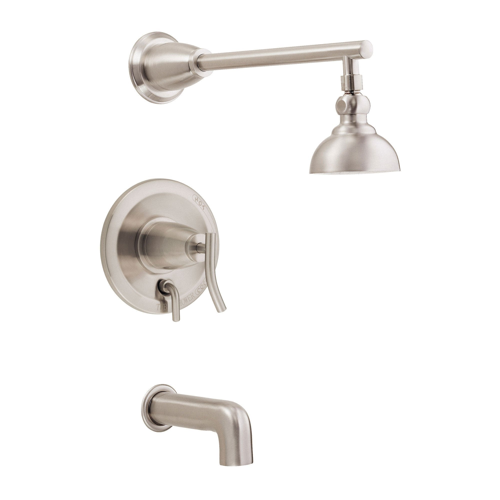 Danze Sonora Brushed Nickel Single Handle Tub and Shower Combo Faucet INCLUDES Rough-in Valve