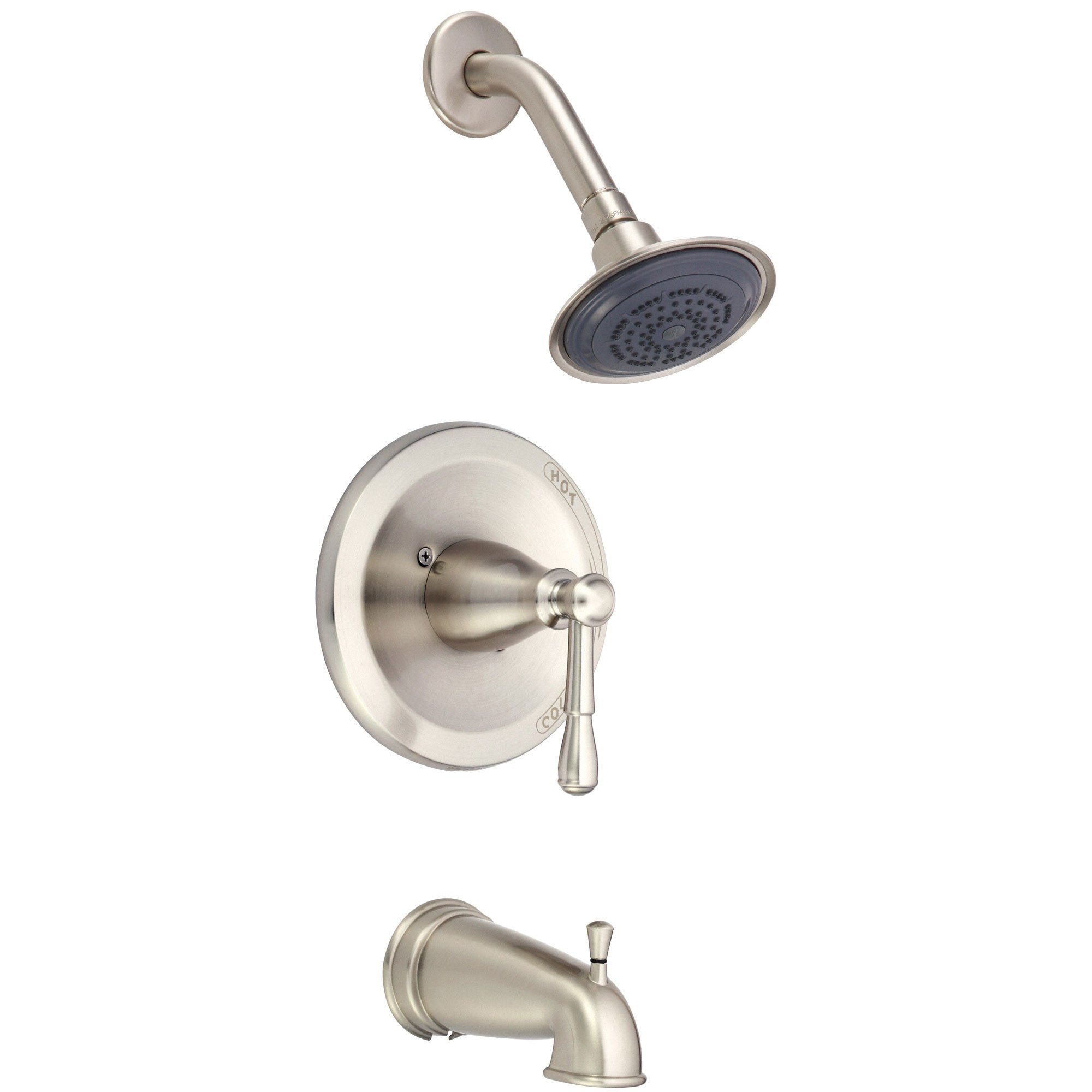 Danze Eastham Brushed Nickel Single Handle Tub and Shower Combo Faucet INCLUDES Rough-in Valve