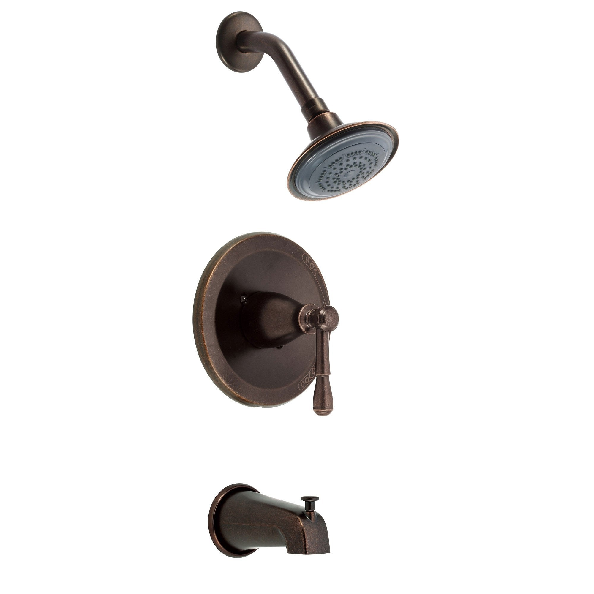 Danze Eastham Tumbled Bronze Single Handle Tub and Shower Combo Faucet INCLUDES Rough-in Valve