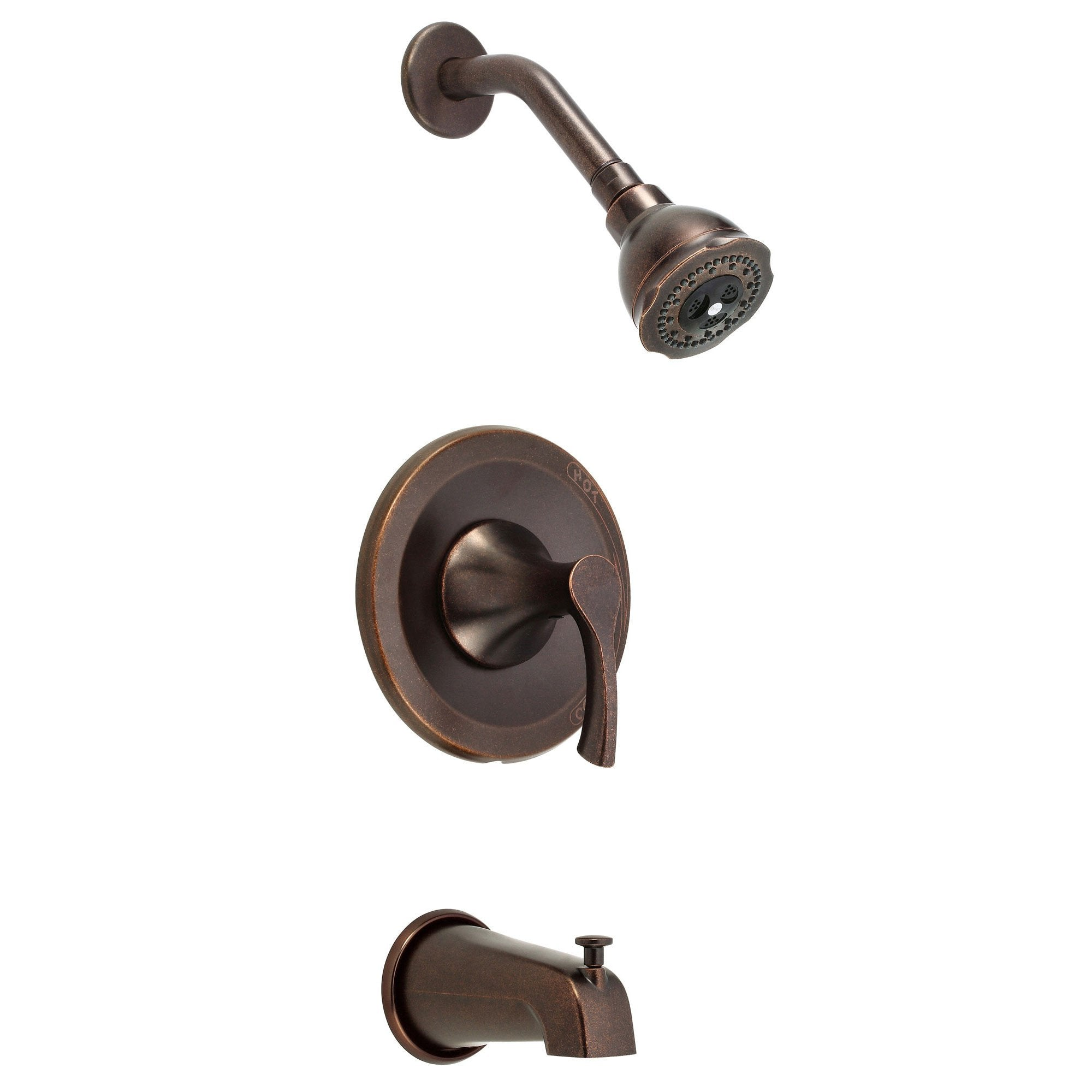 Danze Antioch Tumbled Bronze Single Handle Tub and Shower Combo Faucet INCLUDES Rough-in Valve