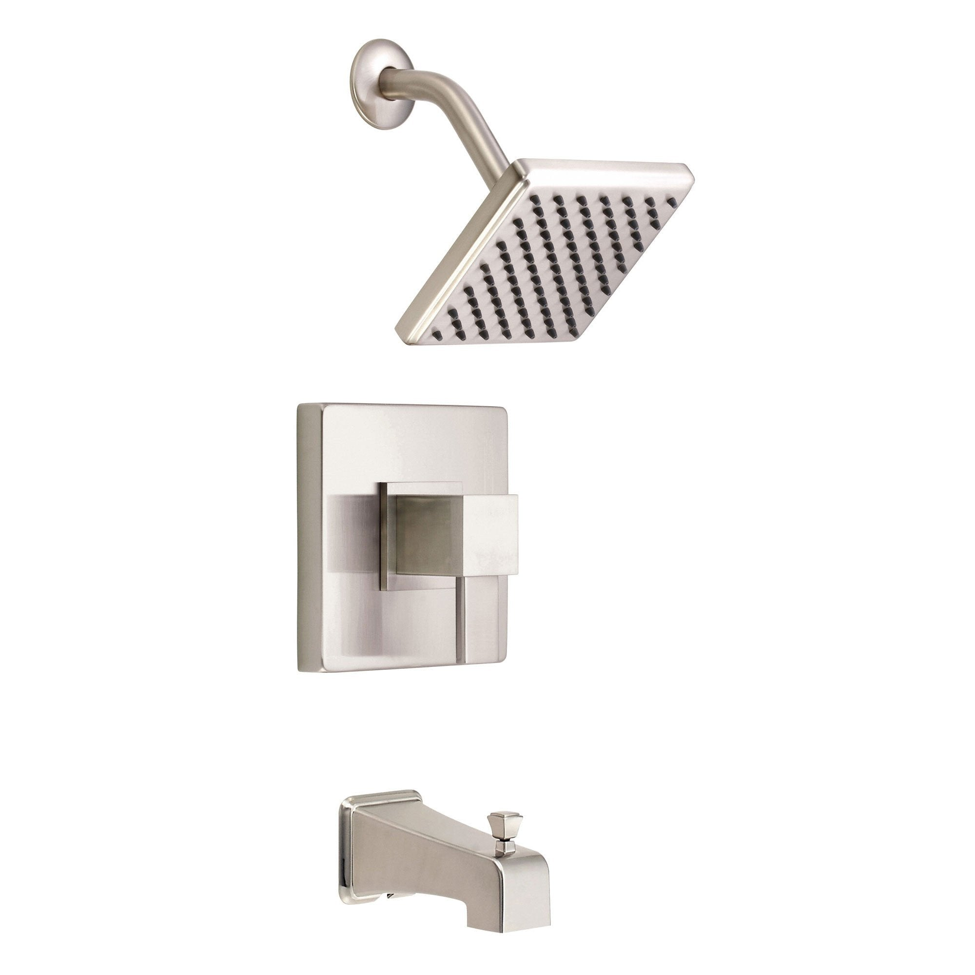 Danze Reef Brushed Nickel Single Handle Tub and Shower Combination Faucet INCLUDES Rough-in Valve