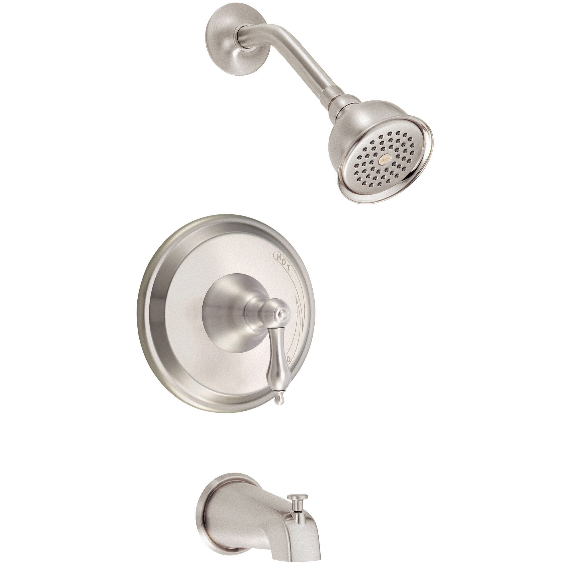 Danze Fairmont Brushed Nickel Single Lever Handle Tub & Shower Combo Faucet INCLUDES Rough-in Valve