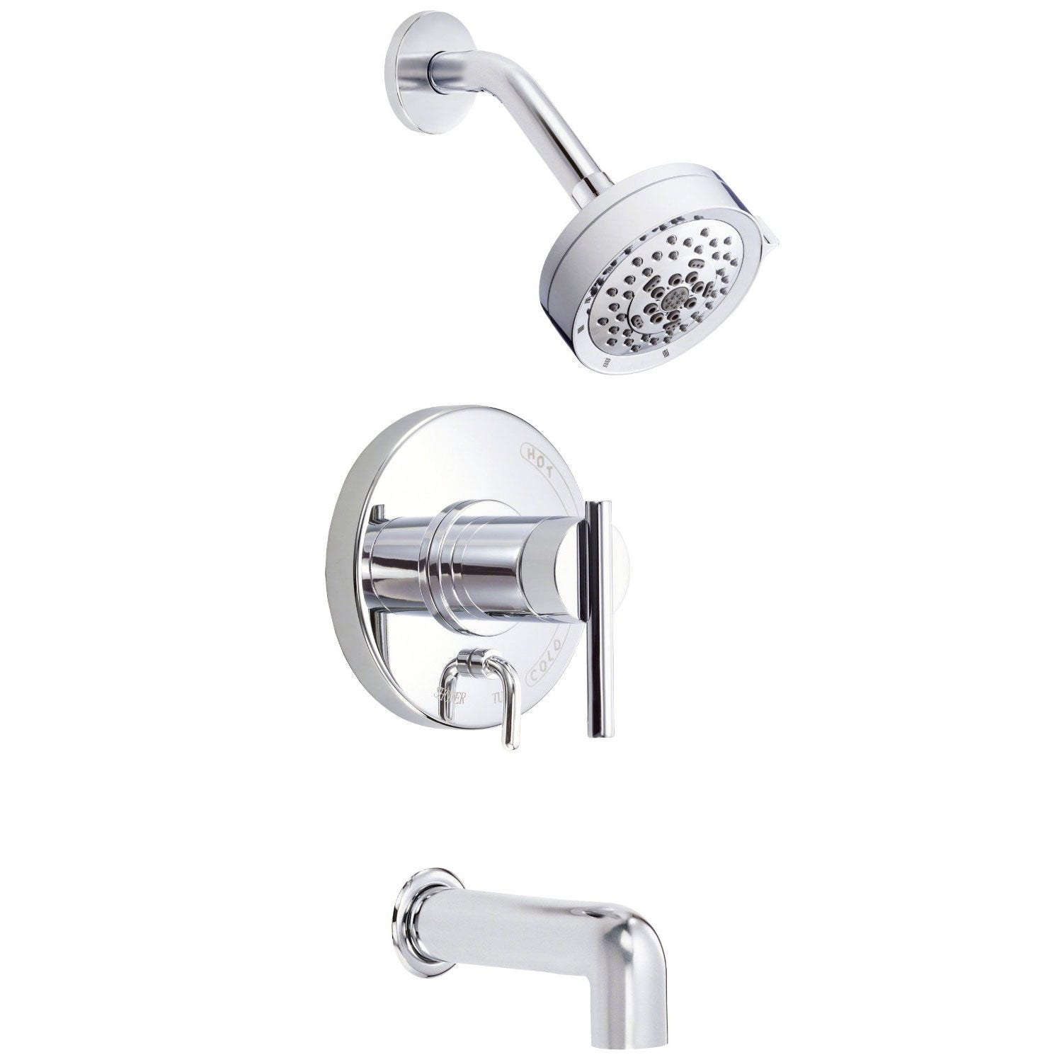 Danze Parma Modern Chrome Single Handle Tub and Shower Combination Faucet INCLUDES Rough-in Valve
