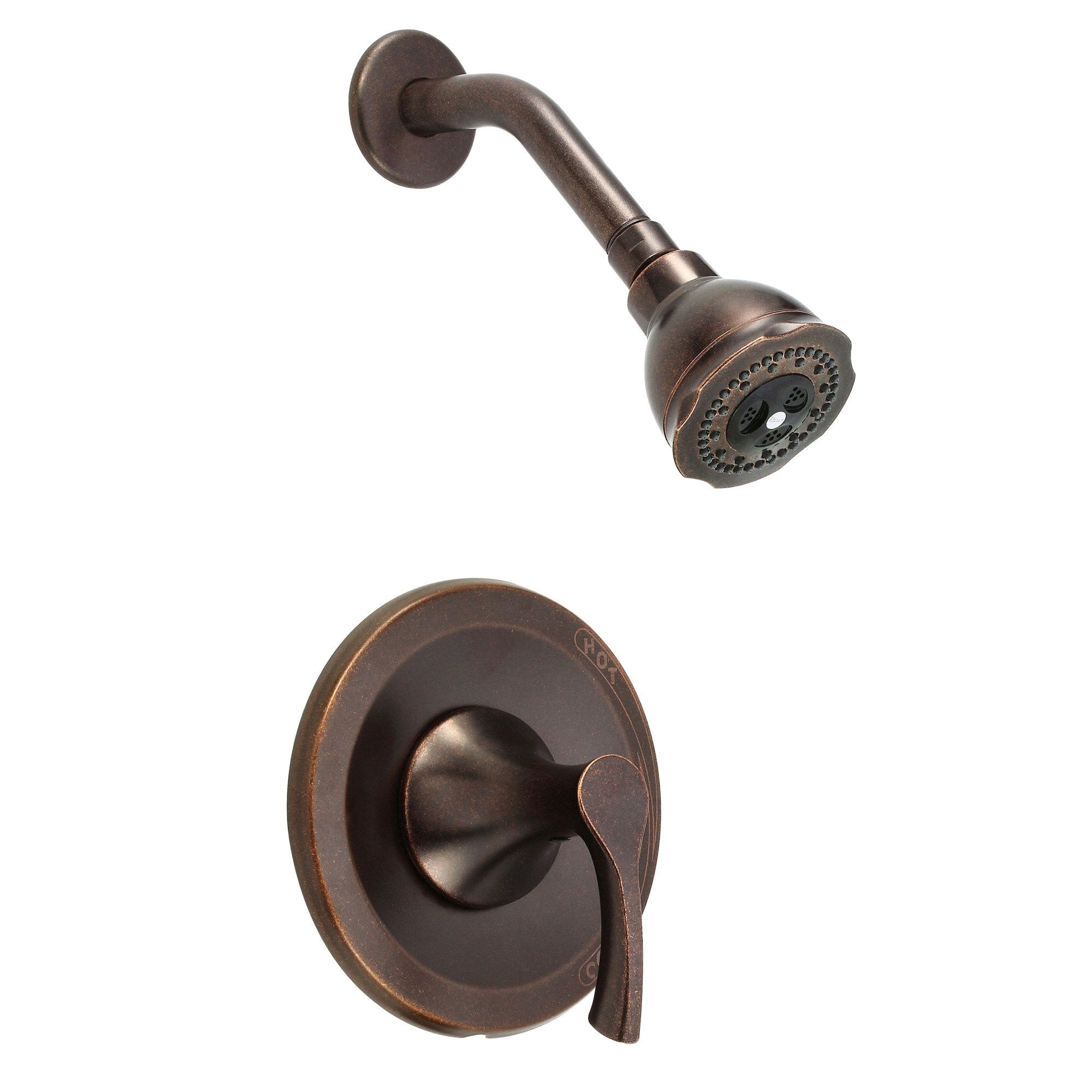 Danze Antioch Tumbled Bronze Single Handle Pressure Balance Shower Only Faucet INCLUDES Rough-in Valve