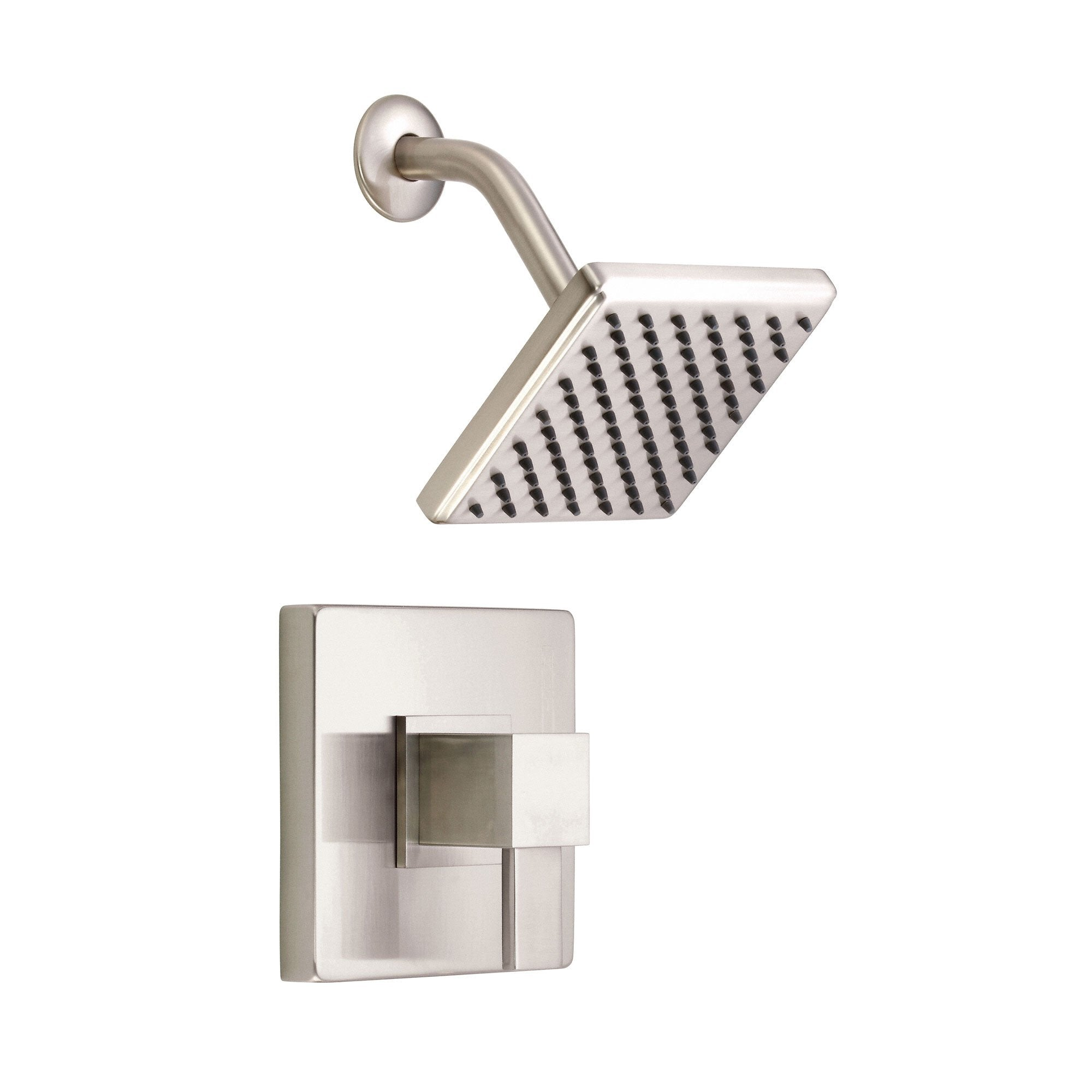 Danze Reef Brushed Nickel Modern Single Handle Square Shower Only Faucet INCLUDES Rough-in Valve