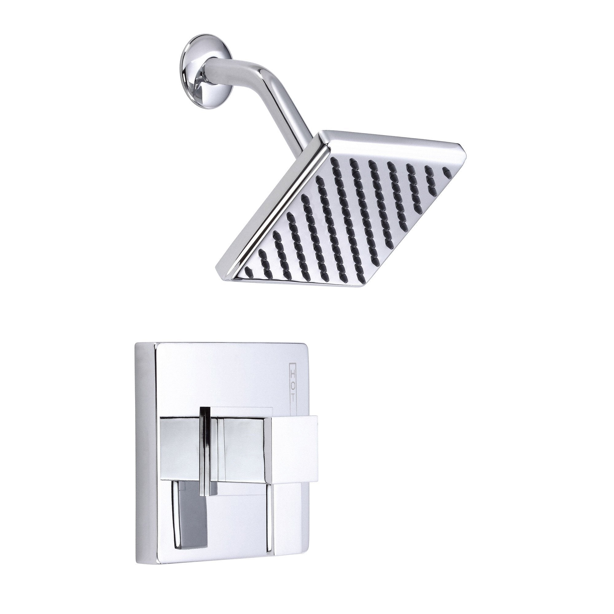 Danze Reef Chrome Modern Single Handle Square Shower Only Faucet INCLUDES Rough-in Valve