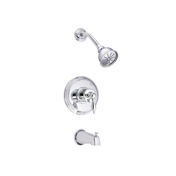 Danze Prince Chrome Single Handle Pressure Balance Tub and Shower Faucet INCLUDES Rough-in Valve