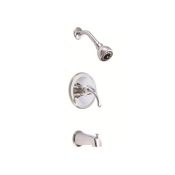 Danze Melrose Chrome 1 Handle Pressure Balance 1.5 GPM Tub and Shower Faucet INCLUDES Rough-in Valve