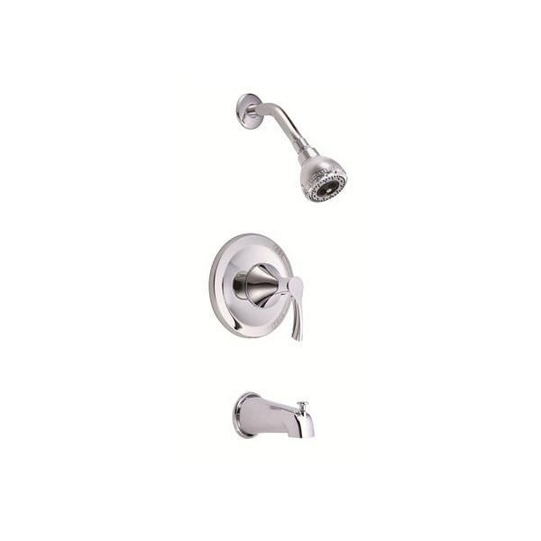 Danze Antioch Chrome 1 Handle Pressure Balance 1.5 GPM Tub and Shower Faucet INCLUDES Rough-in Valve
