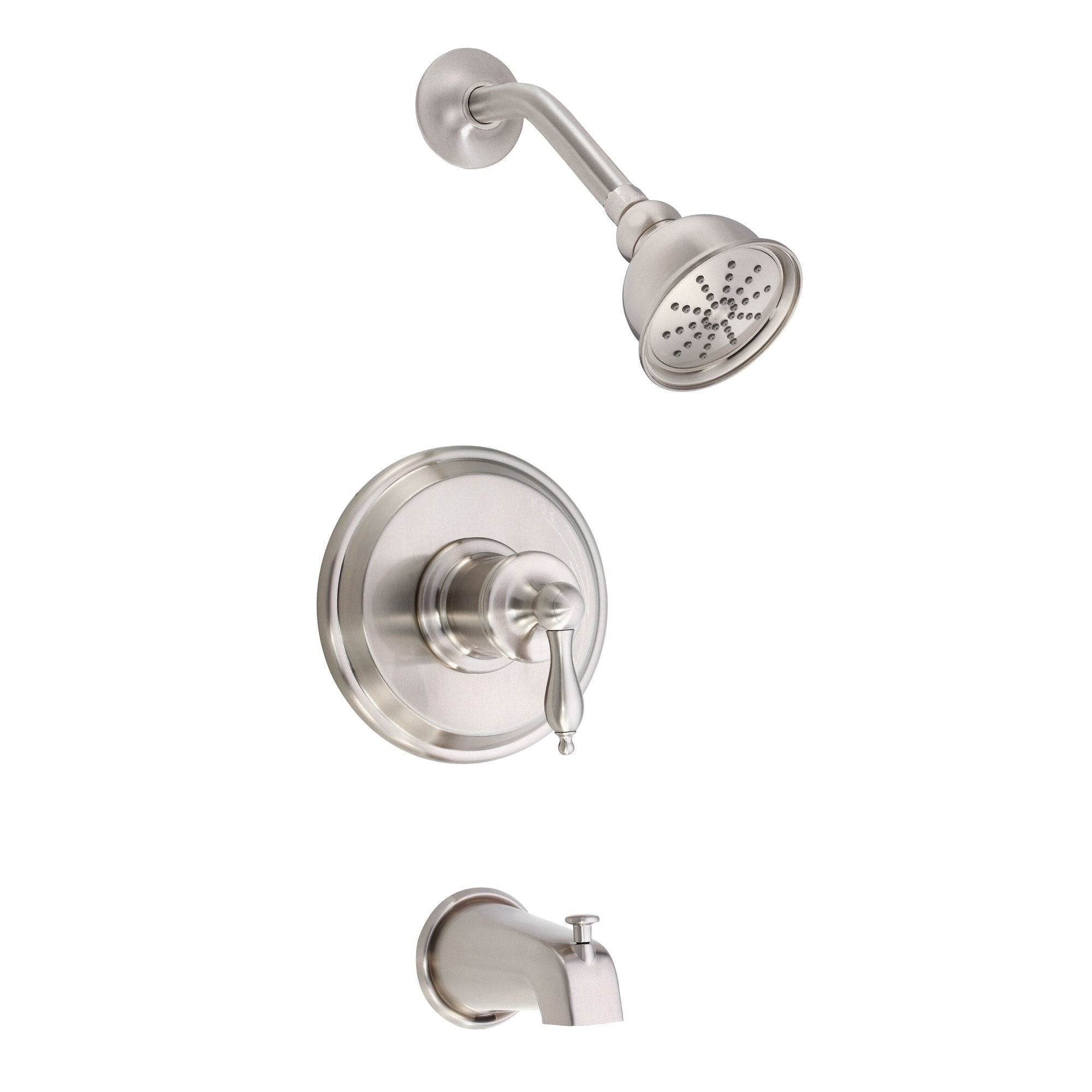 Danze Prince Brushed Nickel Single Handle Tub and Shower Combination Faucet INCLUDES Rough-in Valve