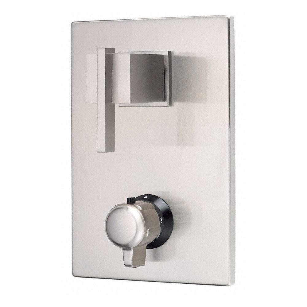 "Danze Sirius Brushed Nickel Square 1/2"" Thermostatic Shower Faucet Control INCLUDES Rough-in Valve"