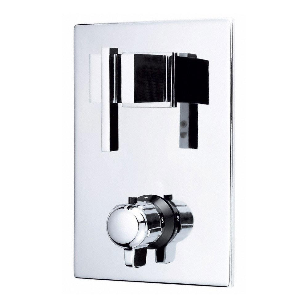 "Danze Sirius Modern Chrome Square 1/2"" Thermostatic Shower Faucet Control INCLUDES Rough-in Valve"