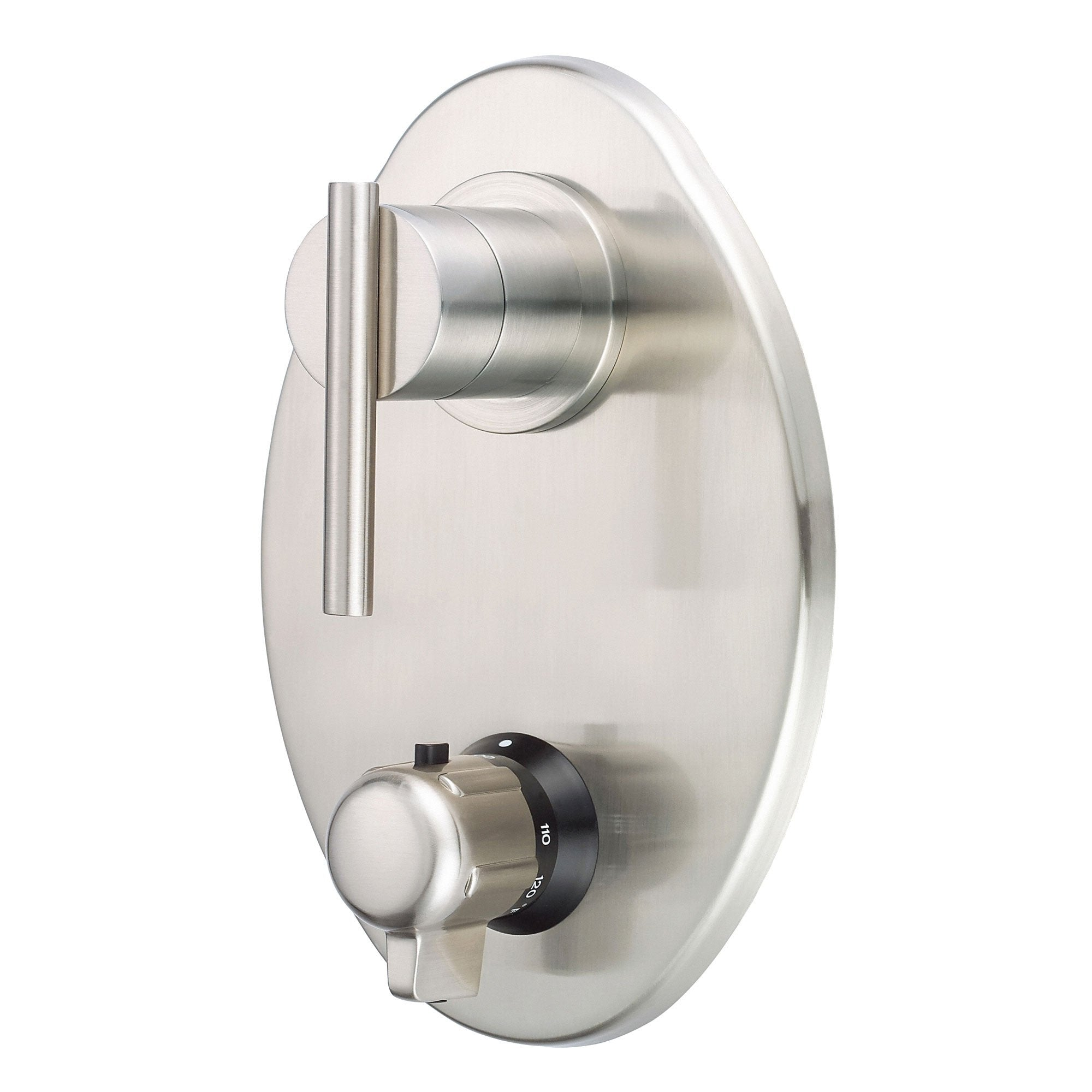 "Danze Parma Brushed Nickel 1/2"" Thermostatic Shower Faucet Control INCLUDES Rough-in Valve"