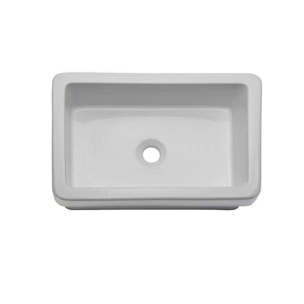 Decolav 1453-CWH Classically Redefined Semi-Recessed Lavatory Sink, White 542926