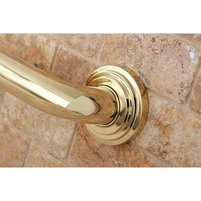 "Kingston Grab Bars - Polished Brass Milano 24"" Decorative Grab Bar DR214242"